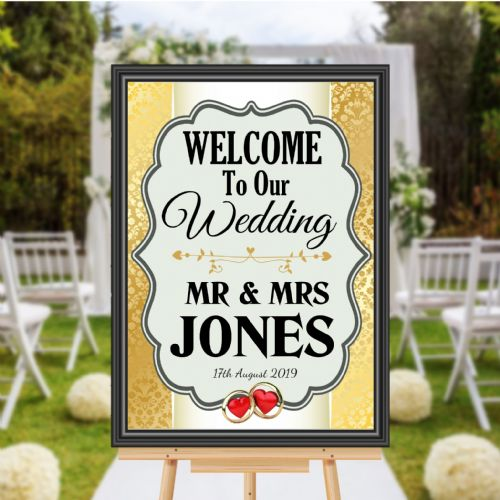 Personalised Welcome to our Wedding Sign Poster Banner - Print N173